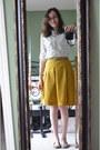 Mustard-polka-dot-merona-skirt-white-polka-dot-oasap-blouse