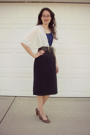 off white Sugarlips cardigan - brown leopard print Payless wedges