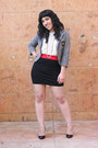 Red-colorblock-le-tote-dress-heather-gray-wet-seal-blazer