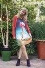Crimson-mim-boots-sheinside-dress-pacsun-necklace-forever-21-cardigan