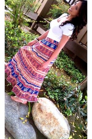 Forever 21 skirt - Forever 21 blouse - Forever 21 accessories - Forever 21 flats