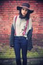 Floppy-bershka-hat-sheer-cos-top-suspenders-vintage-accessories-wool-broth