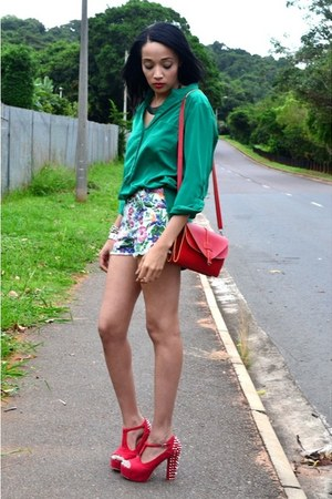 Foschini shirt - Jay Jays shorts - Jeffrey Campbell heels