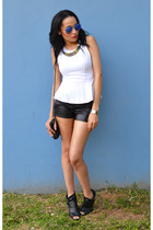 leather Smooch shorts - peplum Mr Price top