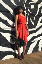 red Legit dress - strappy lace-up H&M wedges