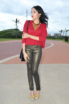 Woolworths jeans - Woolworths sweater - glitter gold Melissa heels
