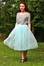 Striped-oasap-shirt-tulle-chicwish-skirt