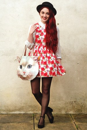 cat Tigerlilly Quinn bag - block heel new look shoes - pinafore Dahlia dress