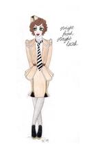 imaginary skirt - imaginary jacket - imaginary skirt - imaginary tie - imaginary