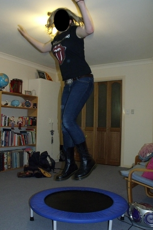 Rolling Stones Merch shirt - Valley Girl jeans - Dr Martens shoes - op shop belt