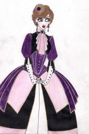 imaginary dress - imaginary hat - imaginary gloves - imaginary necklace - imagin