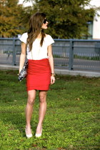 red red Its a SCARF skirt - beige nude patent Dee Keller shoes