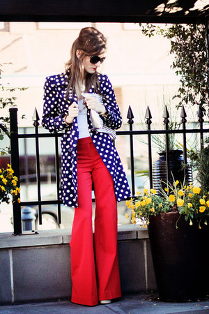 red red pants Express pants - blue forever 21 Jacket jacket