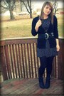 Black-lace-up-rue-21-boots-black-volcom-dress-black-textured-tights-black-