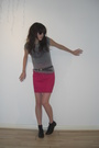 very old UO t-shirt - vintage skirt - ASH shoes