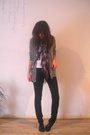 American Apparel sweater - Cheap Monday jeans - Ebay t-shirt - ASH shoes