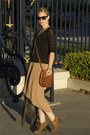 Tan-threadsence-skirt-dark-gray-nordstrom-jacket