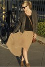 Dark-gray-nordstrom-jacket-tan-threadsence-skirt