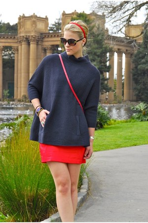 navy H&M sweater - red H&M dress