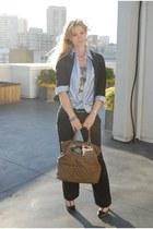 Forever21 blazer - Ralph Lauren shirt - Zara purse