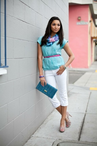 aquamarine Jason Wu for Target shirt - neutral Steve Madden heels