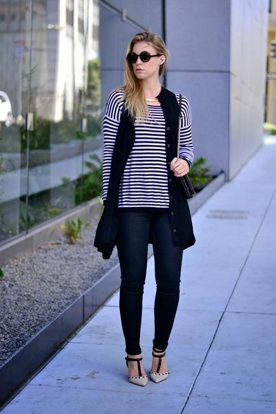white stripes Joie sweater - black Henry & Belle pants