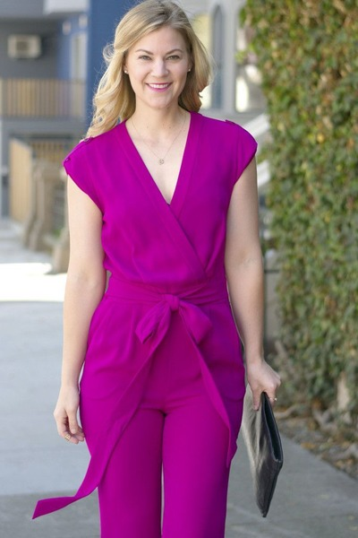 hot pink dvf jumper
