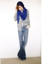 hat - scarf - leopard print sweater - Rock & Republic jeans - Mango shoes - Mike