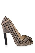 Chrissie Morris python shoes - Chrissie Morris python shoes - Toga dress