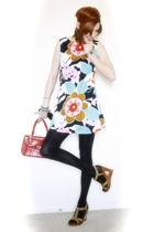 vintage dress - vintage purse - Target shoes
