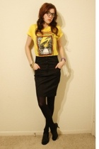 Bad Brains shirt - Forever21 skirt - Nine West - Toy Watch