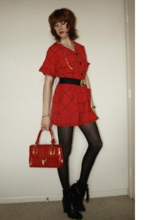 Vtg dress - Vtg purse