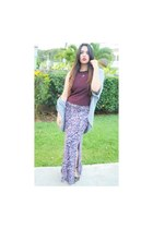 Charlotte Russe skirt - top - cardigan