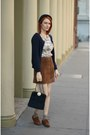 Brown-forever-21-shoes-navy-suede-vintage-bag-camel-vintage-blouse