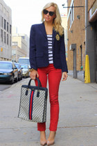 Vintage Gucci bag - Rich & Skinny jeans - Ralph Lauren blazer
