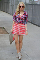 stuart weitzman shoes - Forever 21 shirt - Curly in the CIty bag - Forever 21 su