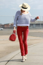 Rich & Skinny jeans - Modern Vintage shoes - H&M hat - H&M top