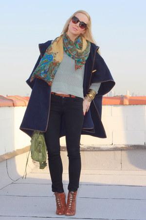sam edelman shoes - H&M sweater - asos cape