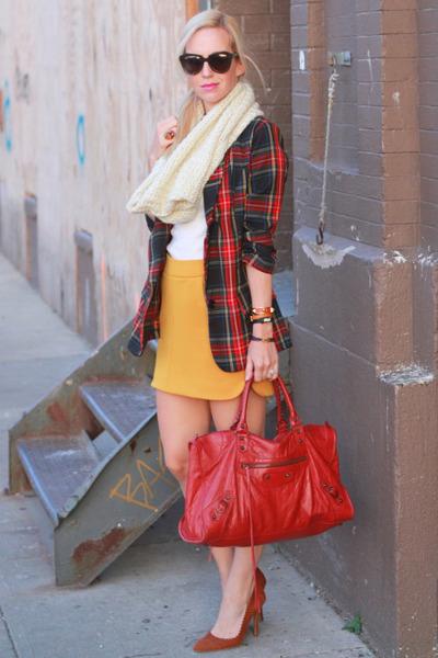 balenciaga bag - Necessary Objects blazer - Zara skirt