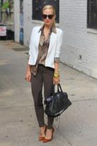J Brand jeans - Zara shoes - Alice Yim blazer - Equipment top