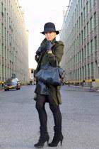 asos coat - H&M hat - asos shoes - Zara skirt