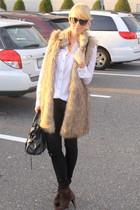 Michael Kors vest - Forever21 pants - Zara shoes - balenciaga bag