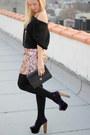 Violet-jessica-simpson-heels-h-m-skirt-vintage-jacket