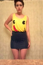 yellow Forever21 top - red top - black Target skirt - white skirt