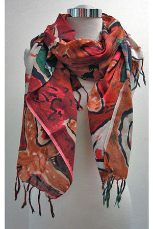 orange BrowNY scarf
