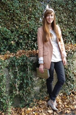 H&M blazer - skinny Lee jeans - J Crew shirt