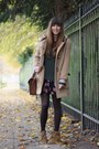 Navy-floral-urban-outfitters-dress-camel-duffle-asos-coat