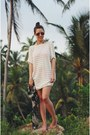 Ivory-beach-cover-up-womensecret-dress-red-mirrored-ray-ban-sunglasses