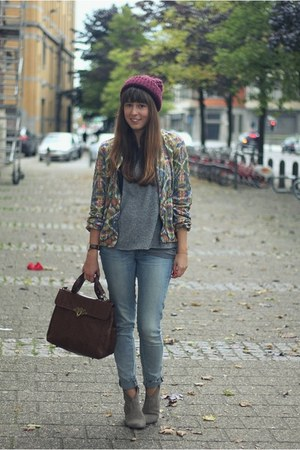 mustard embellished Zara jacket - heather gray suede ASH boots