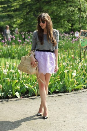 amethyst petal skirt Choies skirt - nude leather Rebecca Minkoff bag